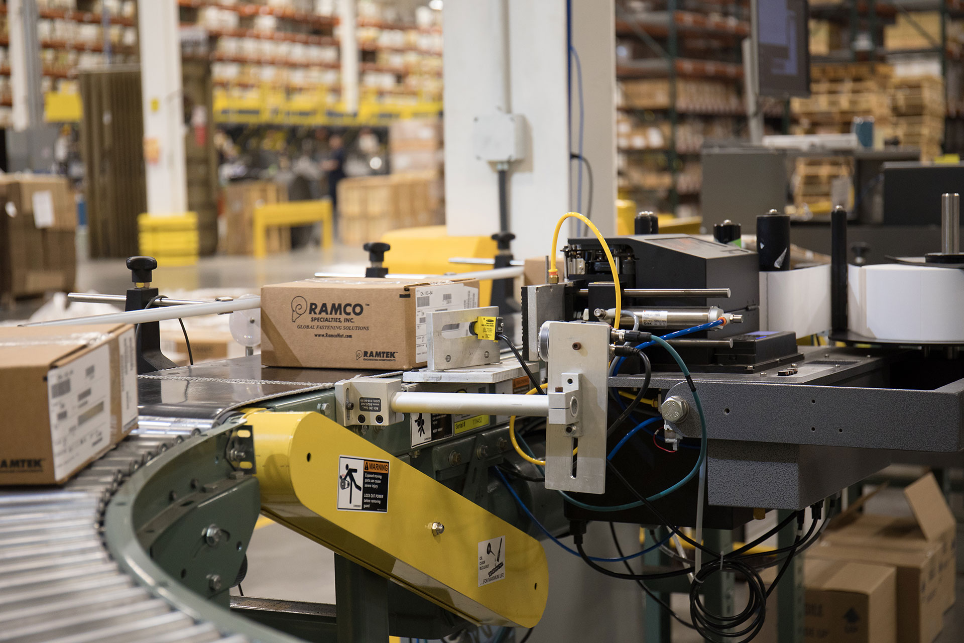 Label verification machine checking Ramco packages for accuracy