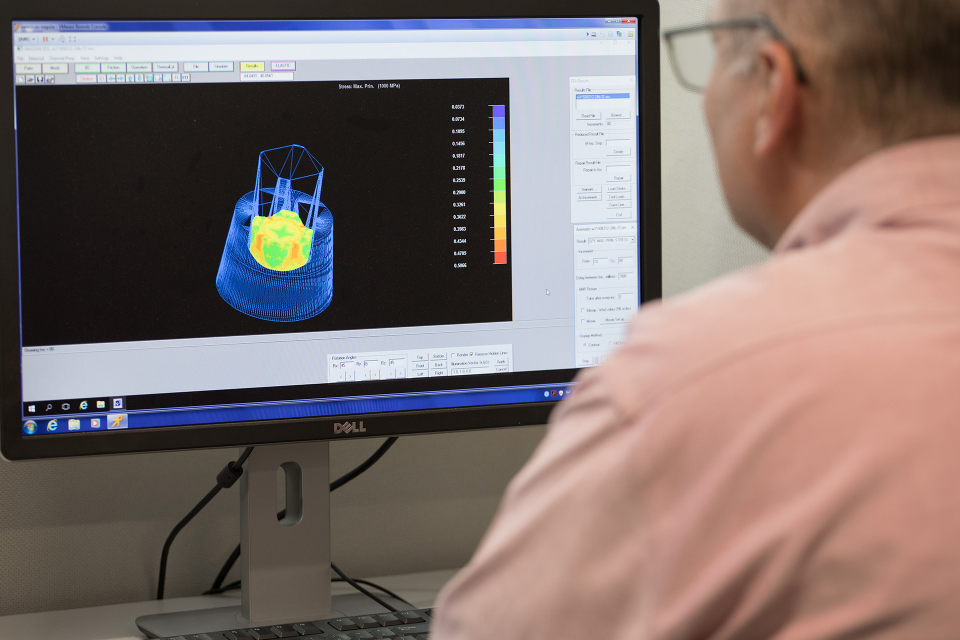 Ramco Production Engineer utilizing forming analysis software for die design verification